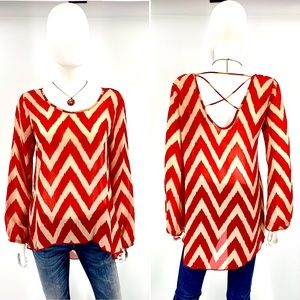 Charming Charlie-Size S-Semi-Sheer with Chevron.